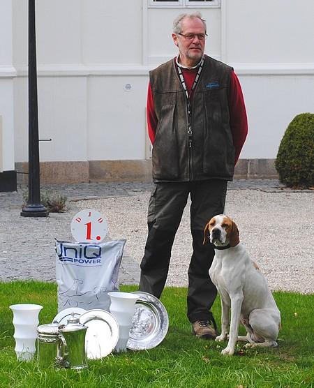 Alex Nissen vinder af Dansk Jagthunde Derby